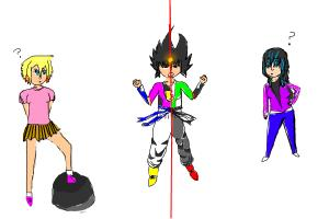 0_0.... Me vs Evil me!!!!!!!(with Dakota and IDK Girl)