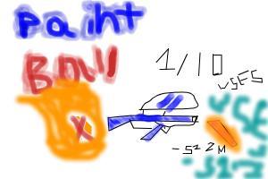 1/10 Paintball X Gun