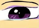 crying anime eye