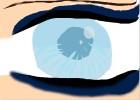 ice blue anime eye