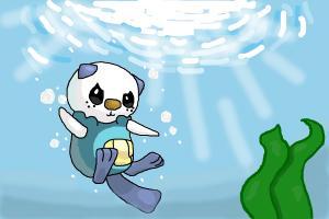 Oshawott Underwater