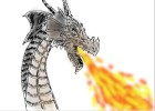 Dragon with fire breath