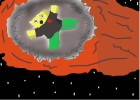 Robloxian on a Meteor