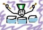 Stickman drummer