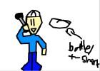 JB getting hit by water bottle/t-shirt