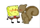Squirrel and Sponge love