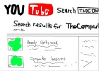 you tube (horrible drawing lol)