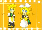 Rin and Len Chibiko