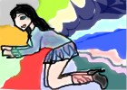 Raimbow girl