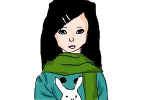 a litel girl