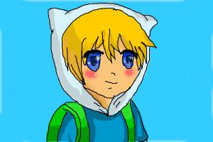 Anime Finn From Adventure Time