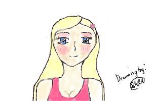 Beautiful Girl with anime