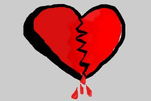 bloody broken heart
