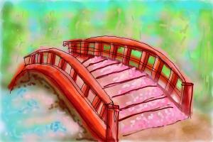Bridge with Sakura Petals