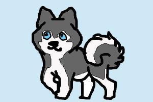 chibi husky