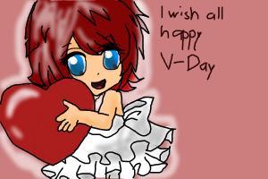 Chibi StylerKairi wish happy V-Day