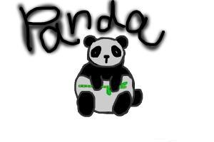 Chubby cute: Panda