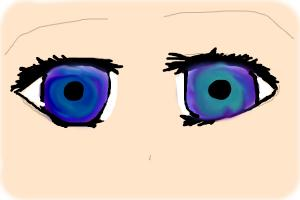 colorful anime eyes