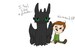 comic of toothless and hiccup