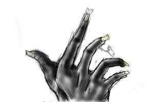Creepy old hand