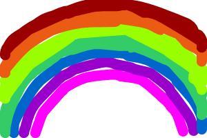 curvy rainbow