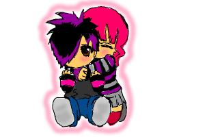 cute emo couple