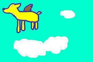 derpy winged wolf