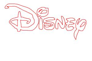 Disney Logo in Red