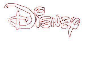 Disney Logo in Red