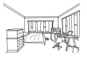 cat in room drawing by mina catlina 1 drawingnow. Black Bedroom Furniture Sets. Home Design Ideas