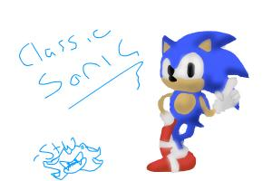 Drawing Classic Sonic
