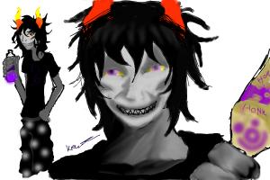 Drawing homestuck: Gamzee Makara