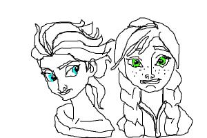 Elsa and Anna Together