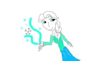 Elsa doing her magic