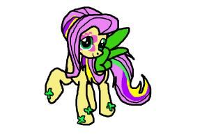 Fluttershy Rainbow Rocks ponyfied