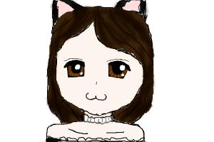 Fruf the cat as a Neko
