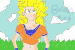 Girl goku super saiyan 3