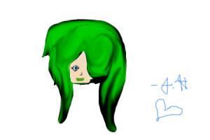 Green hair emo