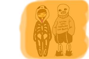 Halloween Sans n Frisk