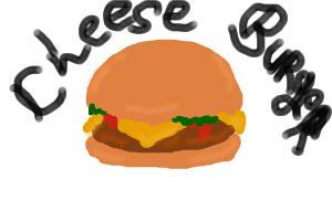 hamburger/cheese burger
