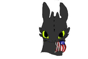 happy 4th of July toothless