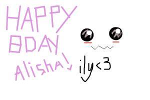 Happy Birthday Alisha!