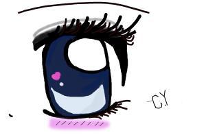 Heart Manga Eye