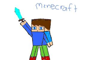 How 2 draw 3D Minecraft