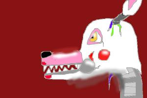 how 2 draw manfle or foxy 2.0 from fnaf