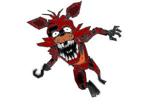 How to dra a foxy from five nights at freddy's