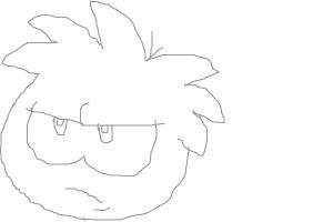 How to Draw a Black Puffle