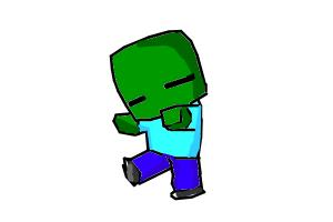 Gallery For gt Minecraft Chibi Zombie