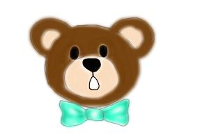 How to draw a cute bear
