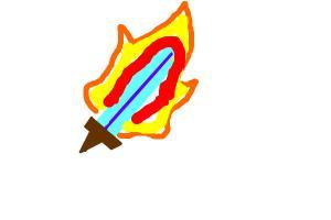 How to draw a Diamond Fire Sword